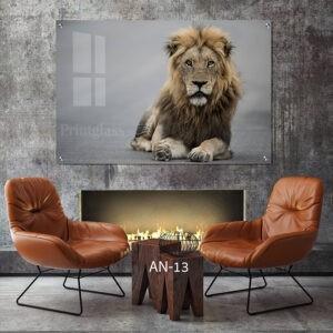 הדפסת קנבס אריה