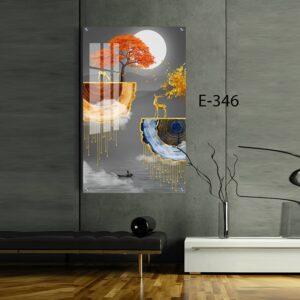 תמונת זכוכית איילים לסלון