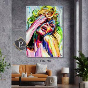 תמונת זכוכית אישה צבעונית