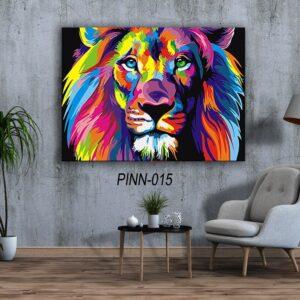אריה צבעוני תמונה לחדר שינה