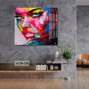 אישה צבעונית לסלון