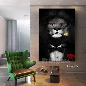 אריה מעשן קנבס