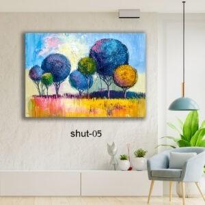 קנבס צבעוני לסלון