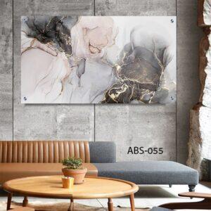 תמונות זכוכית אבסטרקט ורוד שחור